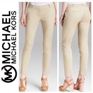 Michael Khors Beige Skinny Ankle Pant